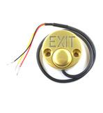 """JSB-Kn-30 Антивандальная металлическая кнопка выхода с подсветкой надписи """"EXIT"""", максимальный комутируемый ток 2А . Подсветка запитывается отдельно 12В"""