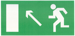 """Знак """"Направление к эвакуационному выходу налево вверх"""" ф/л"""""""