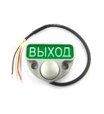 """JSB-Kn-44 Кнопка накладная. Материал: алюминиевый сплав с анодированным покрытием. Светодиодная подсветка контура и надписи """"ВЫХОД"""". Применяется для прямого управления электро-механическим замком, а так же для управления электро-магнитным замком."""