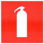 Знак F04 Огнетушитель (Пленка 100х100мм)