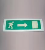 """Молния-12В """"Человек вправо в дверь""""Световое табло (на защелках) (зелен. фон)"""