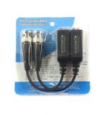 2000-B300K - Пассивный приемник/передатчик по витой паре (комплект 2 штуки), 1 канал HD CVI/TVI/AHD/CVBS 4 в 1, максимальная дистанция: HD CVI 720P:300m/1080P:200m, AHD 720P:300m/1080P:200m, HD TVI 720P: 200m/1080P:150m, контакты под клипсы.